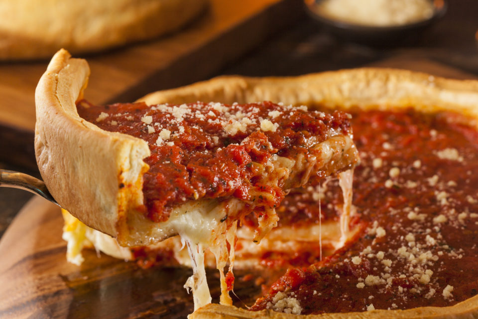 Chicago Style Deep Dish Cheese Pizza